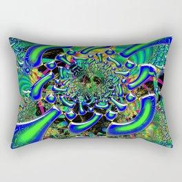 Ring Around The Nucleus Fused Glass Rectangular Pillow