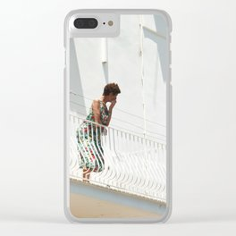 Lady on Balcony Clear iPhone Case