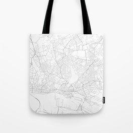 Hamburg, Germany Minimalist Map Tote Bag