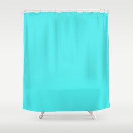Solid Celeste Bright Aqua Blue Color Shower Curtain