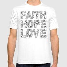 Faith Hope & Love Mens Fitted Tee White MEDIUM
