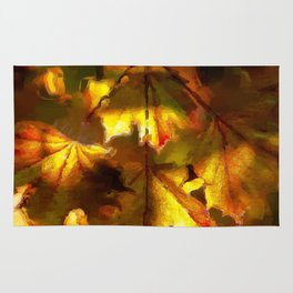 Sun kissed Sycamore leaves Rug