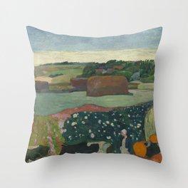 Paul Gauguin - Haystacks in Brittany Throw Pillow