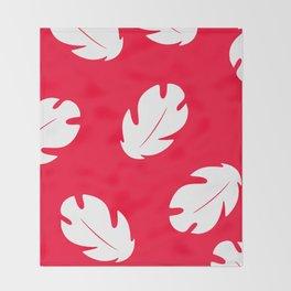 Lilo Hawaiian Floral Leaves Throw Blanket