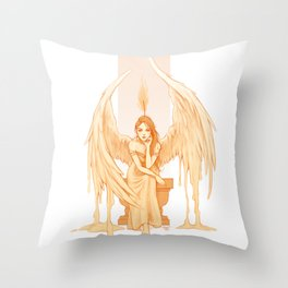 Burning Thoughts Throw Pillow