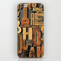 letters iPhone & iPod Skins featuring Letters by BONB