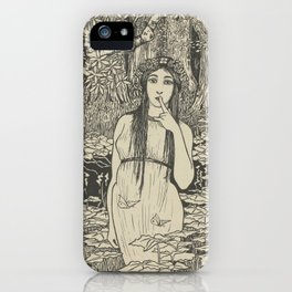 Woman in forest landscape - Gust of the Wall Perné, (1900) iPhone Case