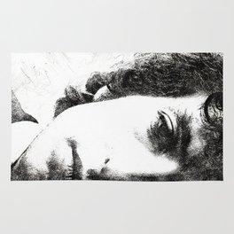 Bob Dylan portrait 02 Rug