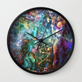 It starts out with a single star Wall Clock