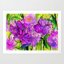 Summer Peonies Art Print