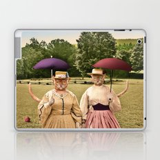 Two Pretty Kitties: Out for a Stroll Laptop & iPad Skin