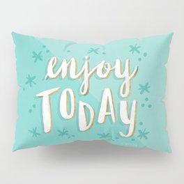 Enjoy Today – Mint & Gold Palette Pillow Sham