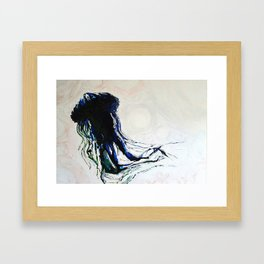 ocean creature Framed Art Print