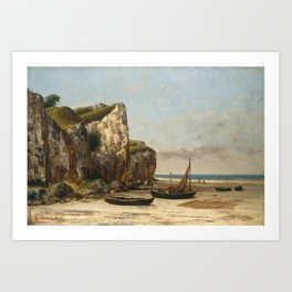 Beach in Normandy by Gustave Courbet,1875 Art Print