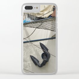 In the harbour of Rotterdam Clear iPhone Case