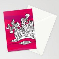 dragon ship Stationery Cards