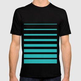 Painted Stripes in Robin's Egg Blue on White  #society6 #decor #buyart #artprint T-shirt
