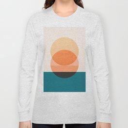 Abstraction_NEW_SUNSET_OCEAN_WAVE_POP_ART_Minimalism_0022D Long Sleeve T-shirt