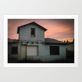 Sunset in El Calafate Art Print