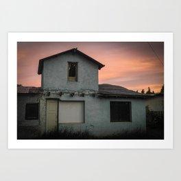 Sunset in El Calafate Art Print