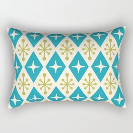 Mid Century Modern Atomic Triangle Pattern 108 Rectangular Pillow