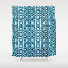 Baby Blue Fences Shower Curtain