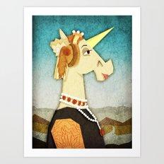 Battista Unicornio Art Print
