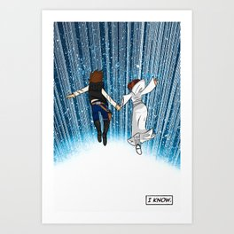 The Captain and the Princess Art Print