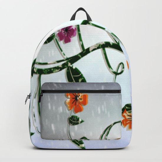 Winter Flowers Backpack