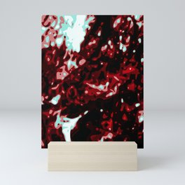 Bloody Red - Black - White  Abstract Vector Texture Mini Art Print