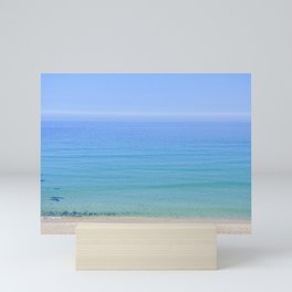 Turquoise Sea View, Porthmeor Beach St Ives Cornwall - Landscape and Nature Photography Mini Art Print