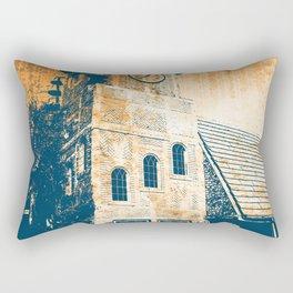 Retro Clock Tower Rectangular Pillow