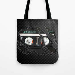 Retro classic vintage Black cassette tape Tote Bag