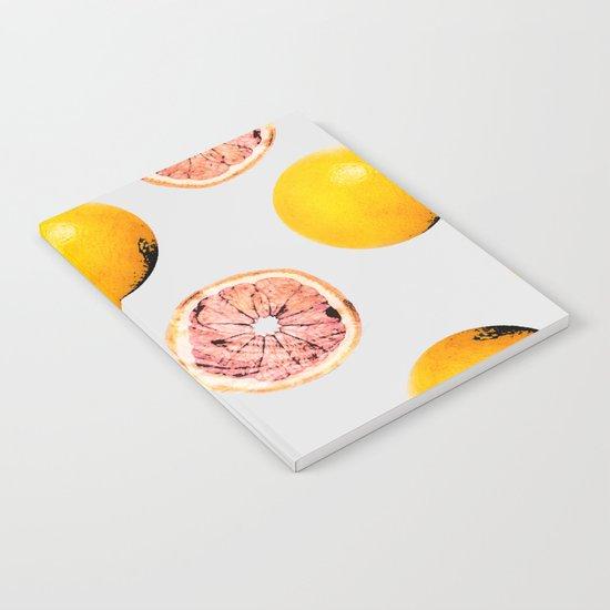 Grapefruit Pattern #society6 #decor #buyart Notebook