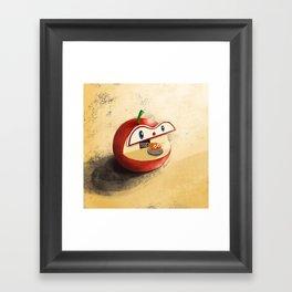 Apple Worm Bank Framed Art Print