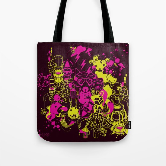 Dream Factory Pink and Yellow Tote Bag