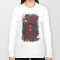 black widow Long Sleeve T-shirts featuring Black Widow by Some_Designs