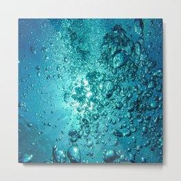 """Splash"" Summer Vibes Waterbubbles Art Metal Print"