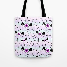Pastel Melt Winged Eyes Tote Bag