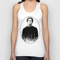 snl Tank Tops featuring DARK COMEDIANS: Will Ferrell by Zombie Rust