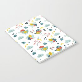 winter birds pattern Notebook