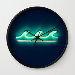 Waves (Neon) Wall Clock
