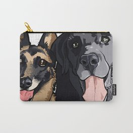 Two Dogs Carry-All Pouch