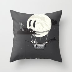You Should See The Moon In Flight Throw Pillow