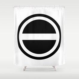 Curtis Holt Logo (Black) Shower Curtain