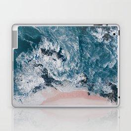 I love the sea - written on the beach Laptop & iPad Skin