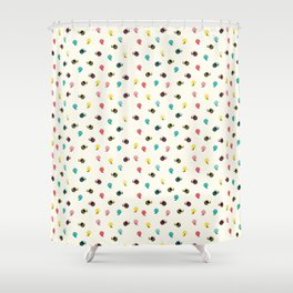 Circles with Handles Shower Curtain