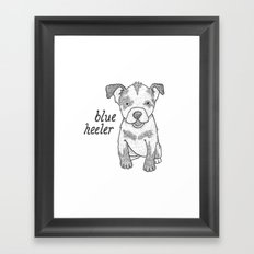 Dog Breeds: Blue Heeler/Australian Cattle Dog Framed Art Print
