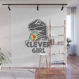 Clever Gir Wall Mural