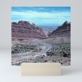 Winding Road Through Majestic Mountains On Earthquake Fault Mini Art Print